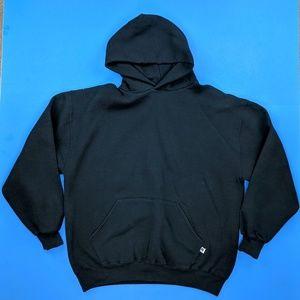 Vintage Russell Athletic Blank Black Hoodie XL